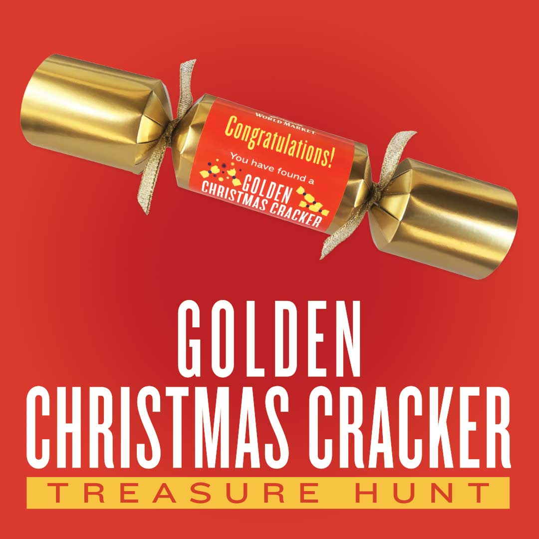 Golden Christmas Cracker Treasure Hunt