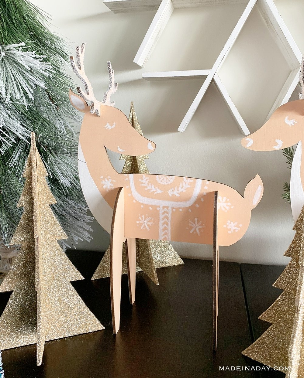 holiday Scandinavian reindeer decor