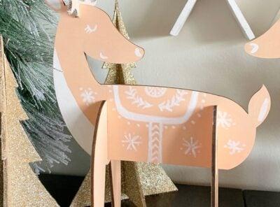 Charming Nordic Reindeer Holiday Decor