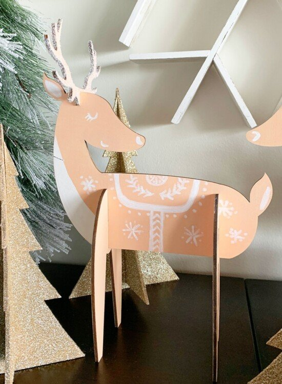 Charming Nordic Reindeer Holiday Decor 6