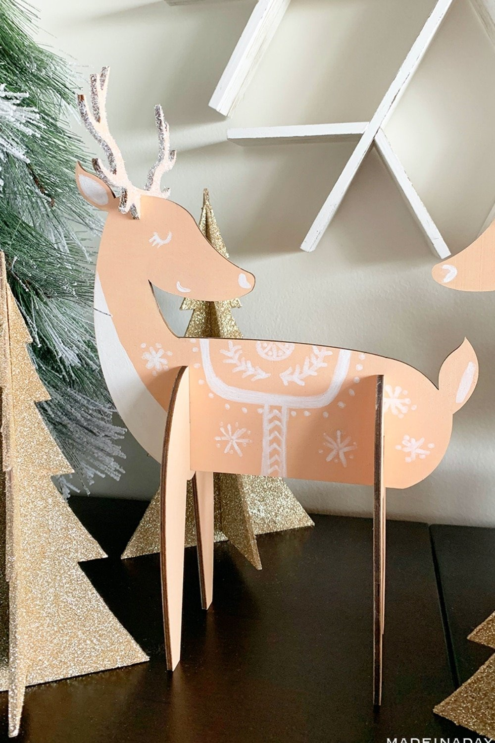 Charming Nordic Reindeer Holiday Decor