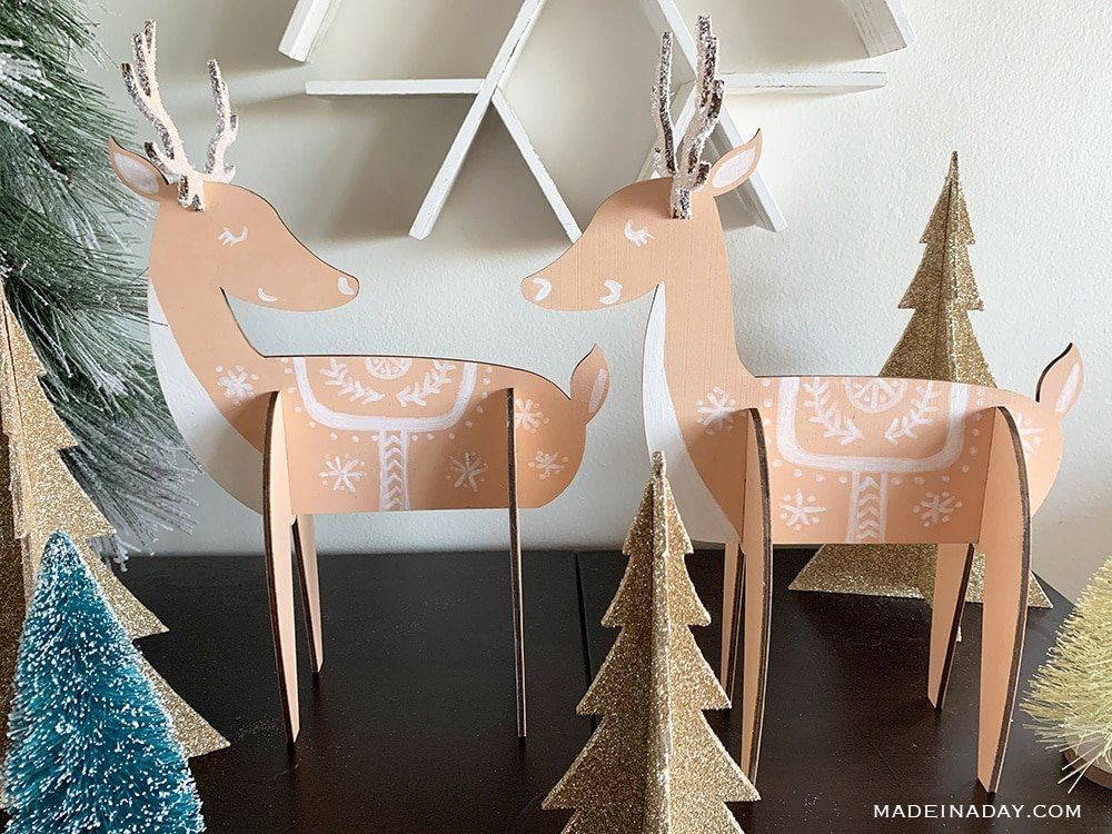 Nordic Reindeer holiday decorations