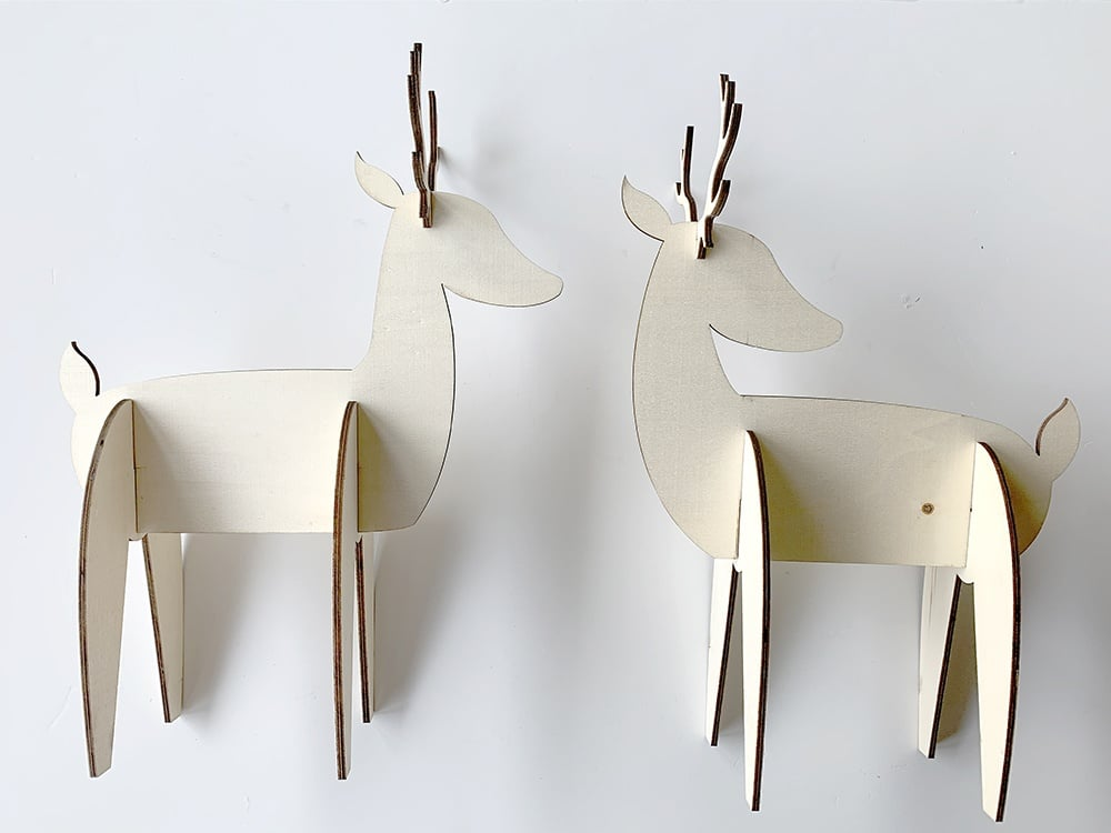 wood deer cutouts