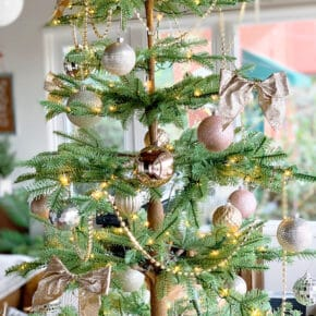 Sparkling Champagne Gold Sparse Christmas Tree 4
