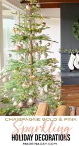 Sparkling Champagne Gold Sparse Christmas Tree 1