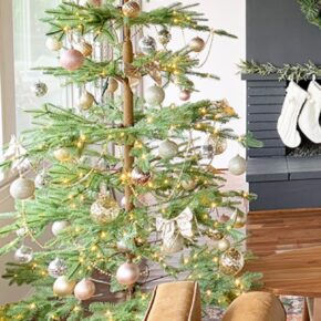 Sparkling Champagne Gold Sparse Christmas Tree 5