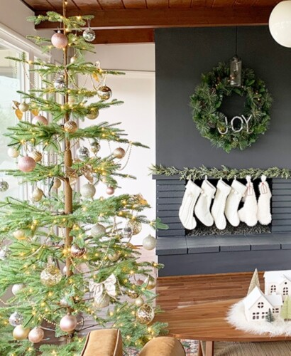 Sparkling Champagne Gold Sparse Christmas Tree 32