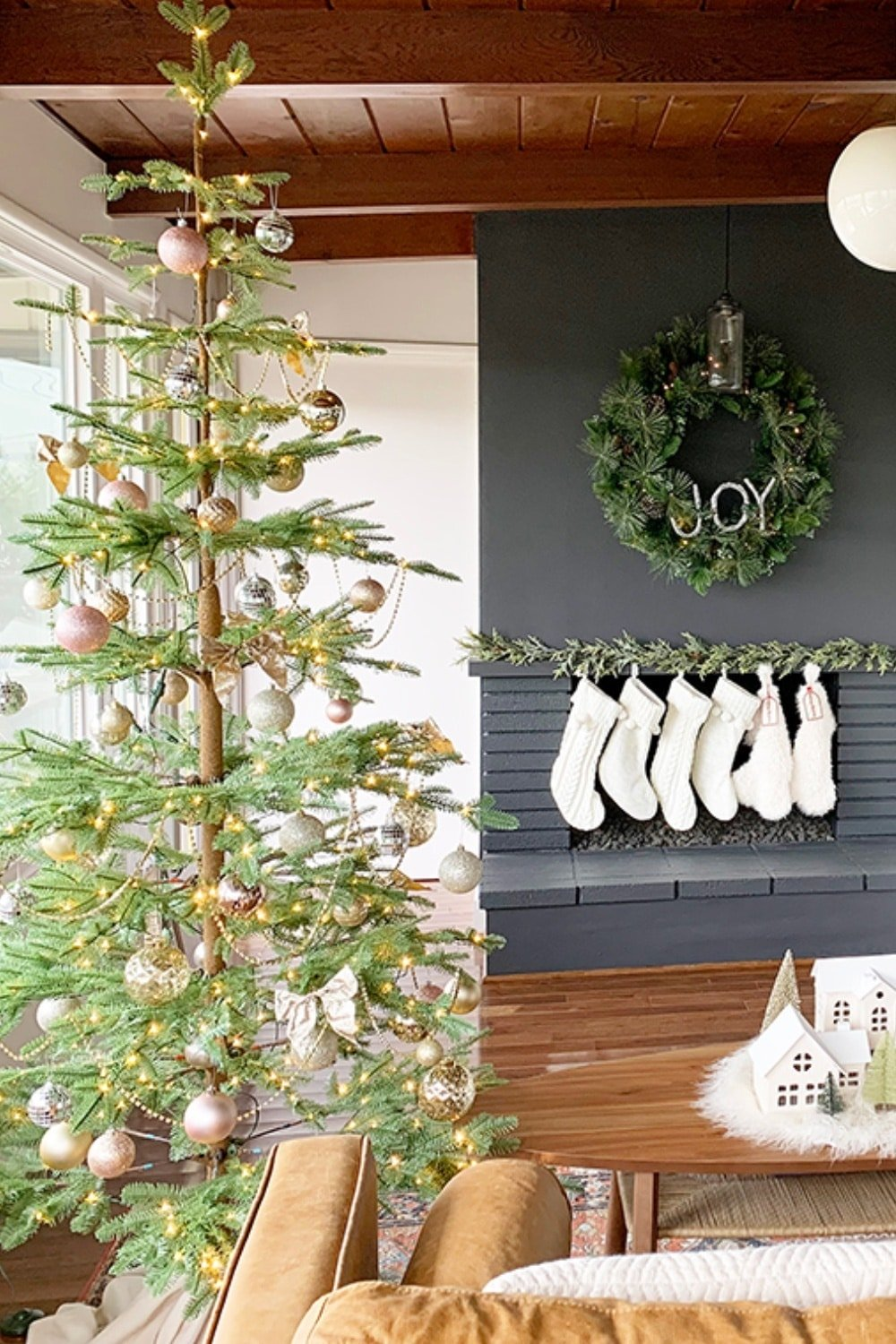 Sparkling Champagne Gold Sparse Christmas Tree