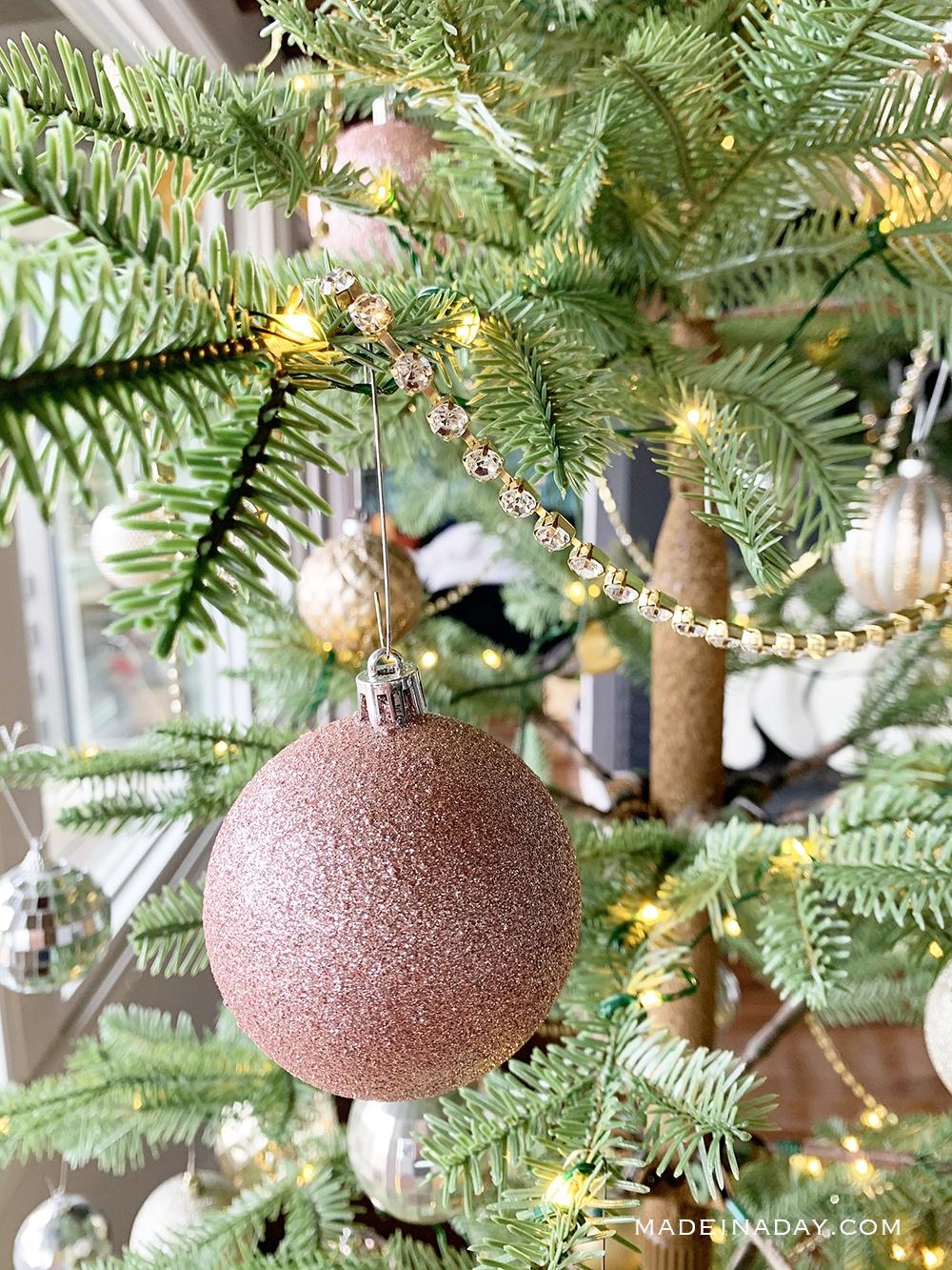 Jeweled Crystal Garland, Rhinestone Christmas Tree Garland