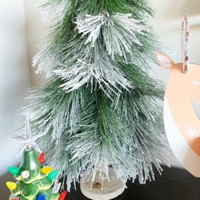 Snowy Pine Flocked Christmas Tree Figurine 1