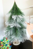 Snowy Pine Flocked Christmas Tree Figurine 3