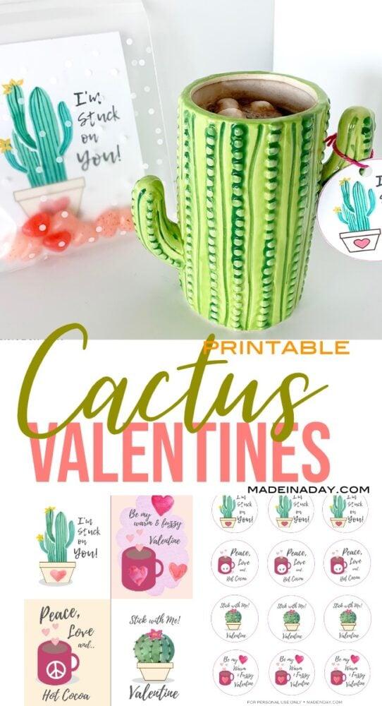 Cactus Valentine Card Printables 6
