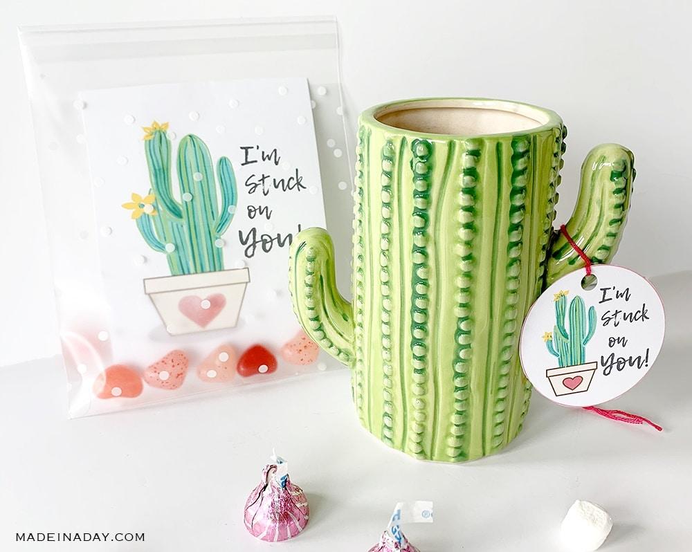 Cactus valentine cards, cactus valentne cactus gift mug, cactus mug, cactus tumbler,
