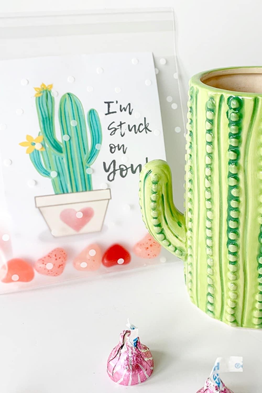Cactus Valentine Card Printables