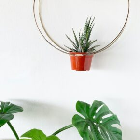 Gold Hanging Hoop Planter Chime 1