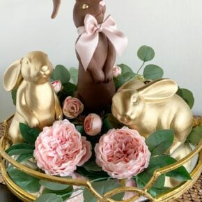 Golden Faux Chocolate Bunny Figurine 1