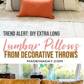 DIY Extra Long Lumbar Pillow from a Throw 1