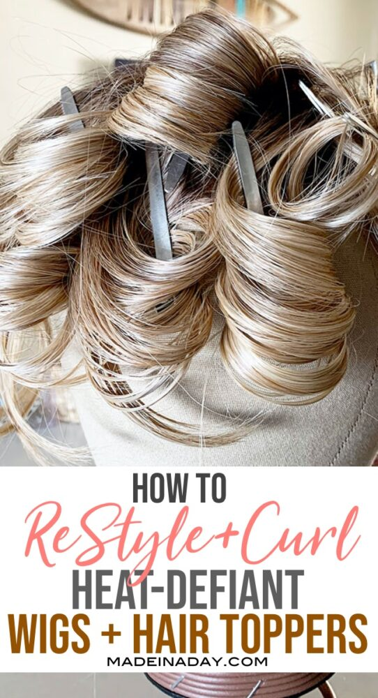 How to curl a Heat Friendly fiber wig Pin