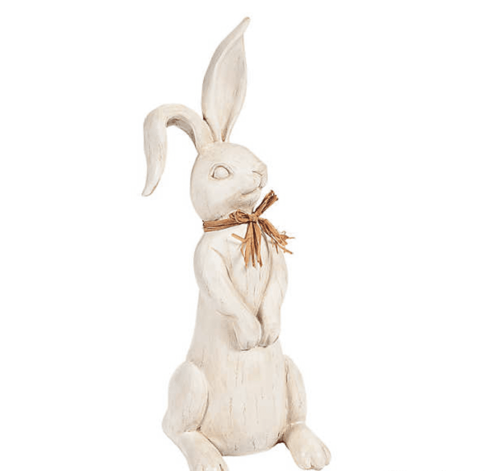 Golden Faux Chocolate Bunny Figurine 3