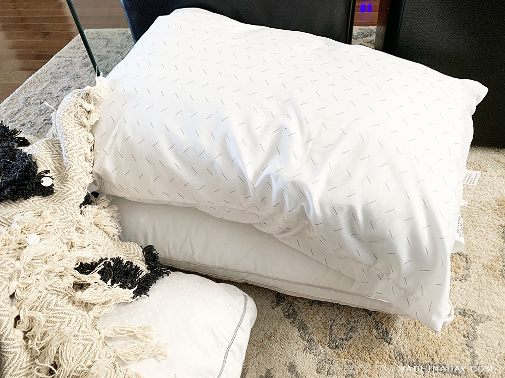 Stuff oversized pillows with cheap bed pillows,
