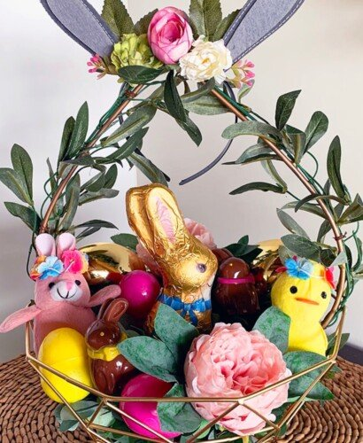Charming Boho Style Woodland Easter Basket 5