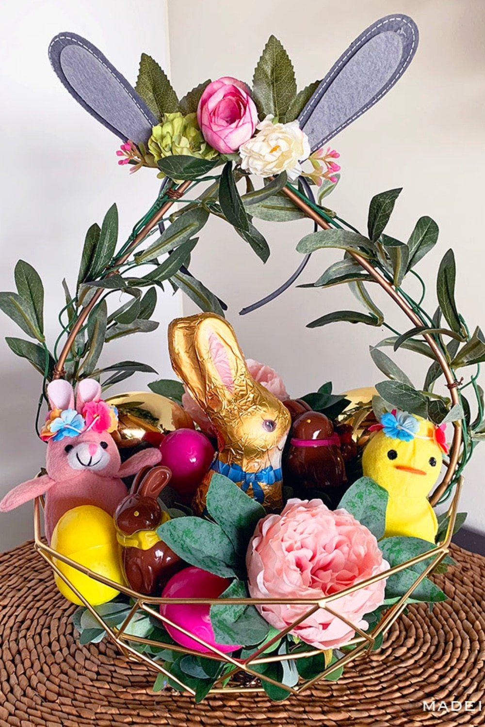 Charming Boho Style Woodland Easter Basket