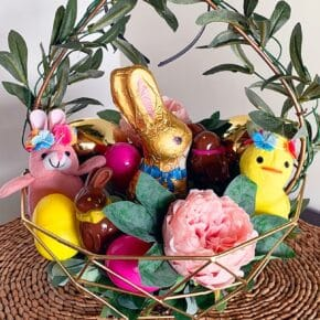 Charming Boho Style Woodland Easter Basket 6