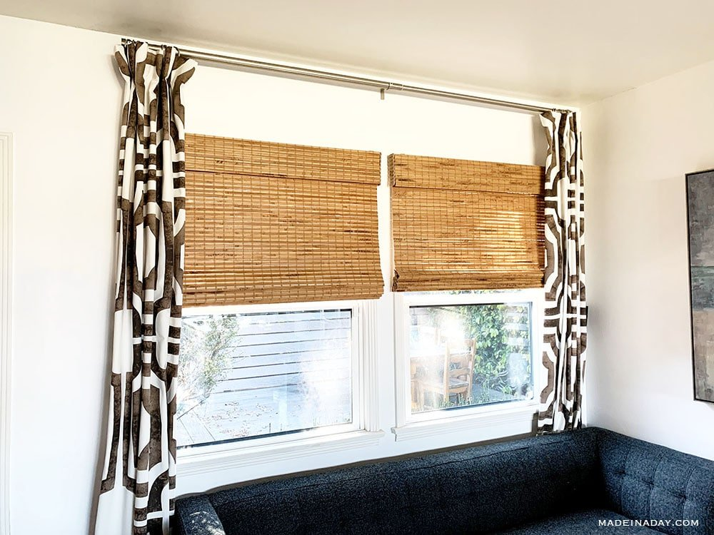 best bamboo blinds, cordless bamboo blinds, cordless woven roman shade bamboo blinds, Hatteras camel bamboo blinds,