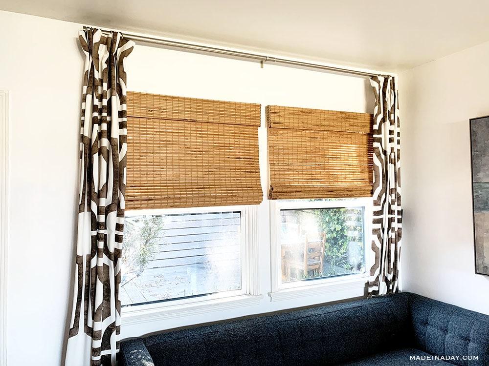 best bamboo blinds, cordless bamboo blinds, cordless woven roman shade bamboo blinds, Hatteras camel bamboo blinds,