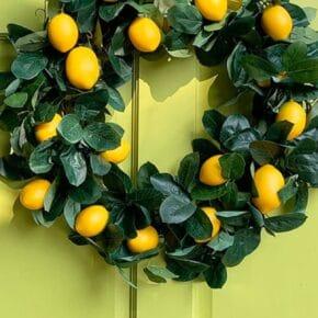 DIY Lemon Wreath from a Garland 29