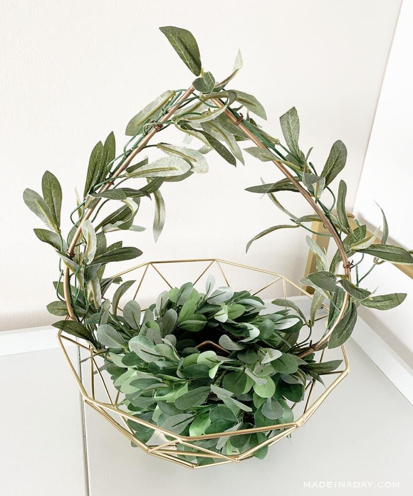 Woodland basket, eucalyptus basket,