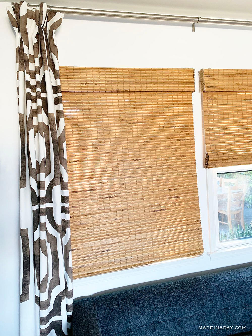 Hatteras Bamboo Blinds, Cordless bamboo blinds,