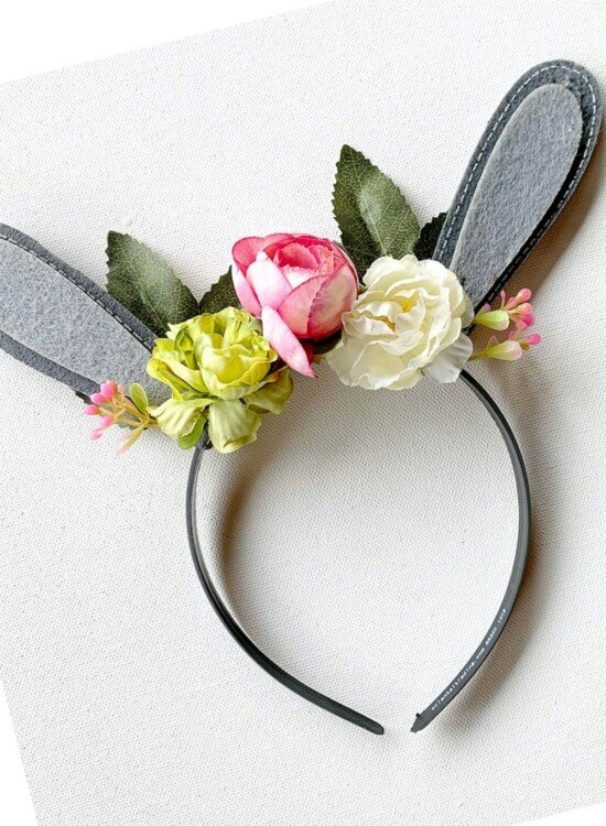 Floral Woodland Bunny Ears Headband 31