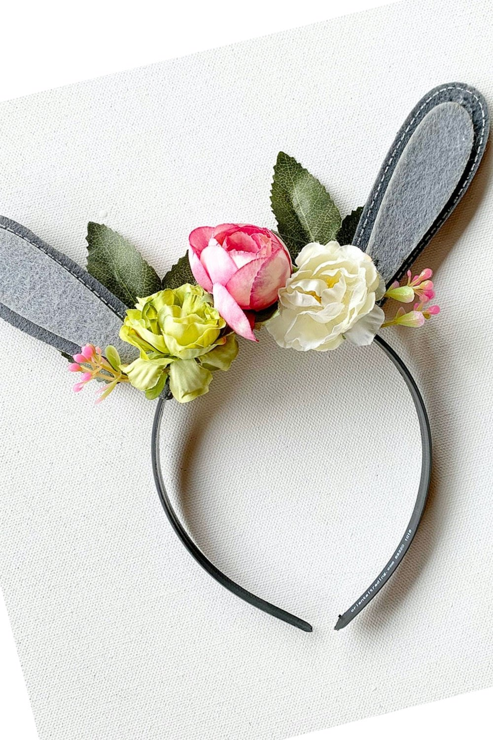 Floral Woodland Bunny Ears Headband 38
