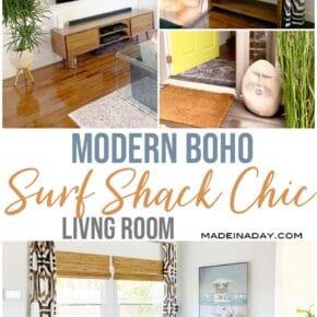 Modern Surf Shack Chic Living Room 1