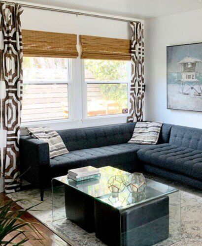 Modern Surf Shack Chic Living Room 10