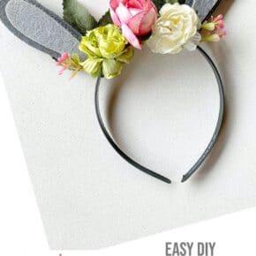 Floral Woodland Bunny Ears Headband 31