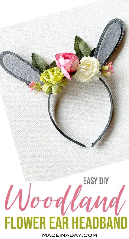 DIY Floral Woodland Bunny Ears