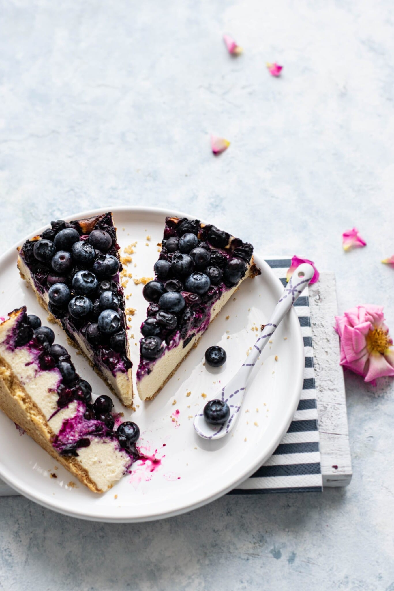 Super Simple Blueberry Cheese Cake