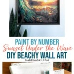 DIY Paint By Numbers Art: Surf at Sunset 1