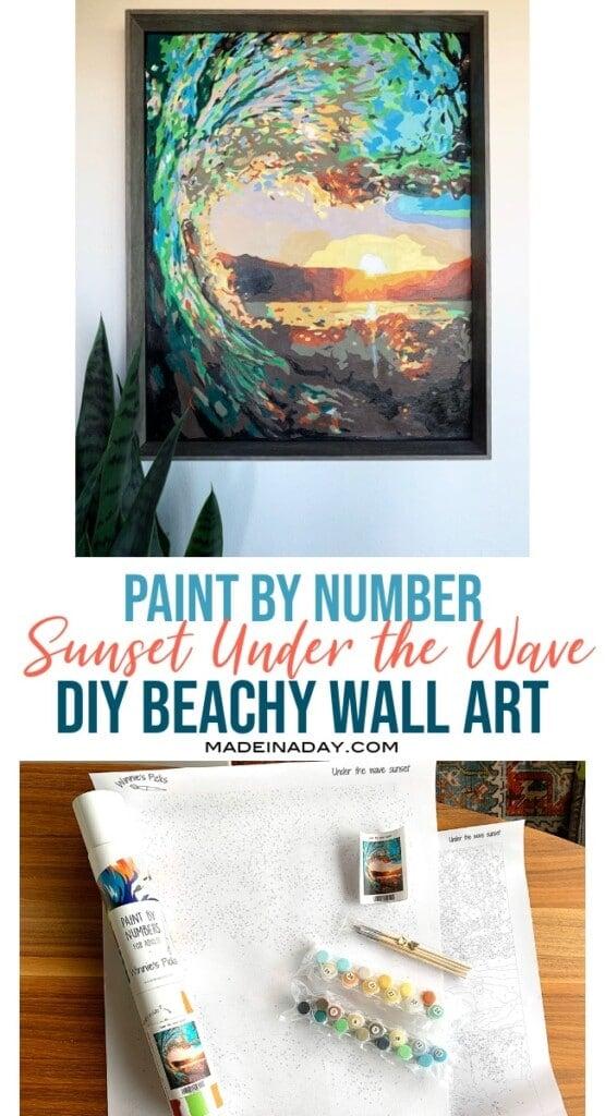 under the wave DIY beachy wall art