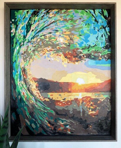 DIY Paint By Numbers Art: Surf at Sunset 7
