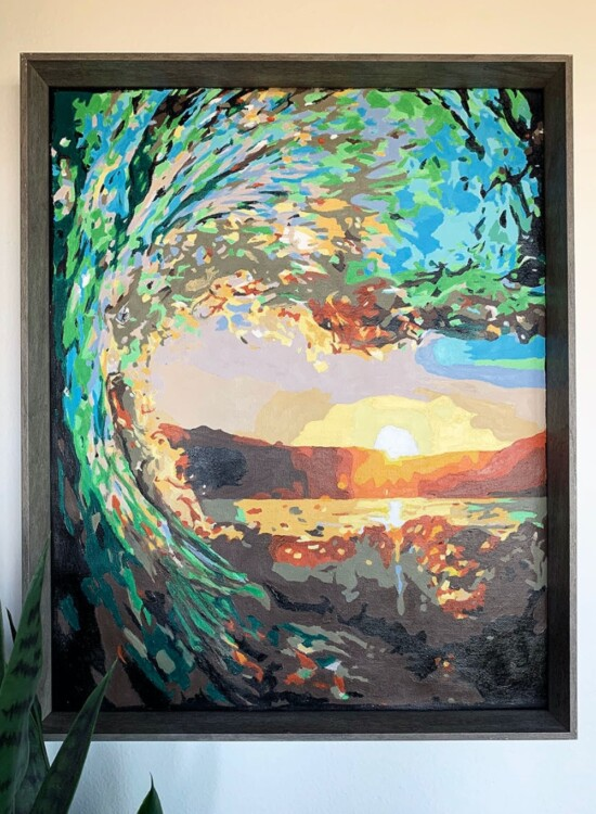 DIY Paint By Numbers Art: Surf at Sunset 2