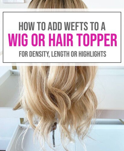 Adding Wefts to a Hair Topper or Wig 39