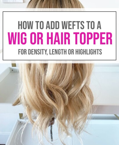 Adding Wefts to a Hair Topper or Wig 31