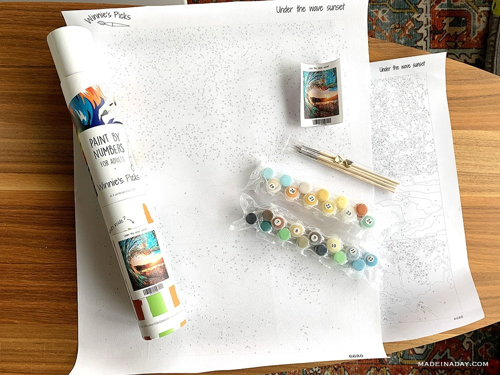 paint by number kit, how to paint by number