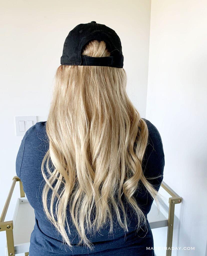 18 inch wig hat, human hair wig hat, DIY hair hat