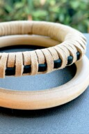 DIY Leather Wrapped Bangle Bracelet 28