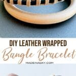 DIY Leather Wrapped Bangle Bracelet 31