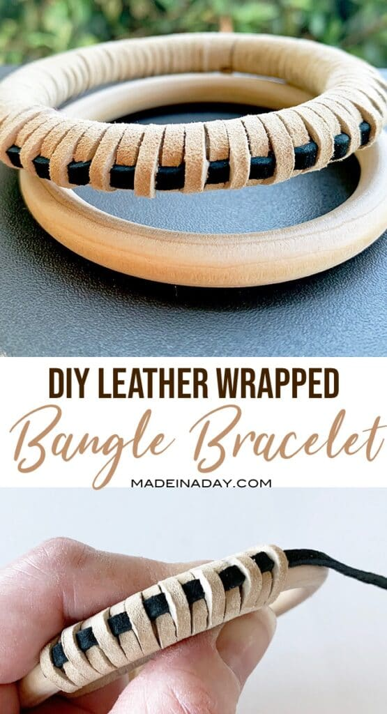 How to make leather wrapped rings or bracelets